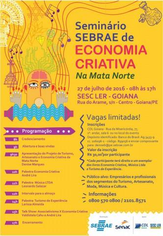 Eventos em Goiana discutem a criatividade nos negócios