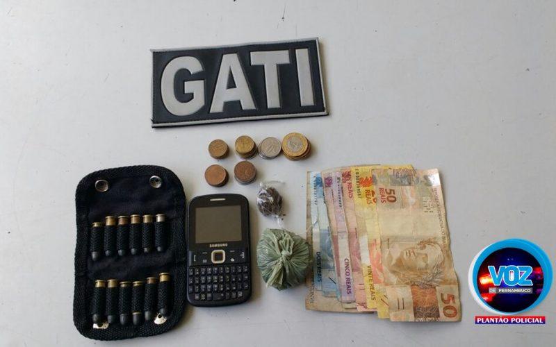 Homem é detido por posse de munição e tráfico de drogas em Paudalho
