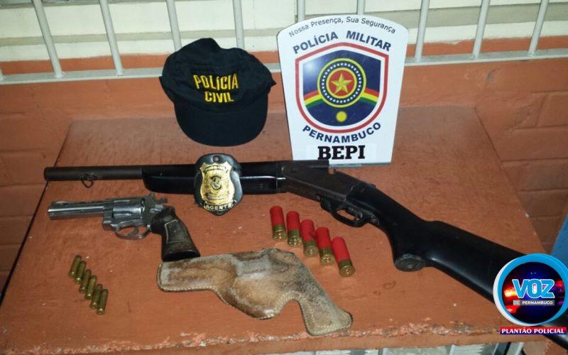 Homens são presos em Bezerros por porte de arma e munições