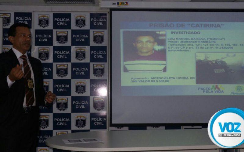 Policia Civil apresenta prisão do homem mais procurado da Mata Norte de Pernambuco