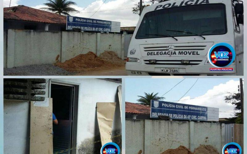 Policia civil divulga nota sobre arrombamento em Delegacia de Carpina