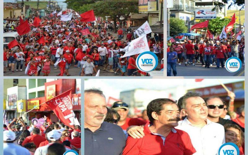 Com presença de Armando Monteiro, Joaquim Lapa realiza caminhada e afirma que não responderá a adversários