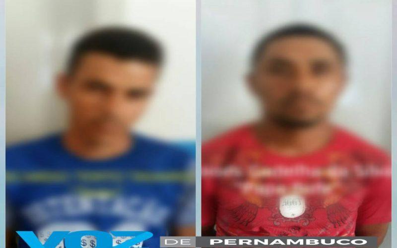 Dois homens foram presos em Carpina nesta segunda (7)